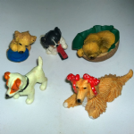 Vintage Puppy in my pocket dogs 90's X5 various lot 4